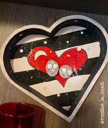 Vassoio cuore decorato