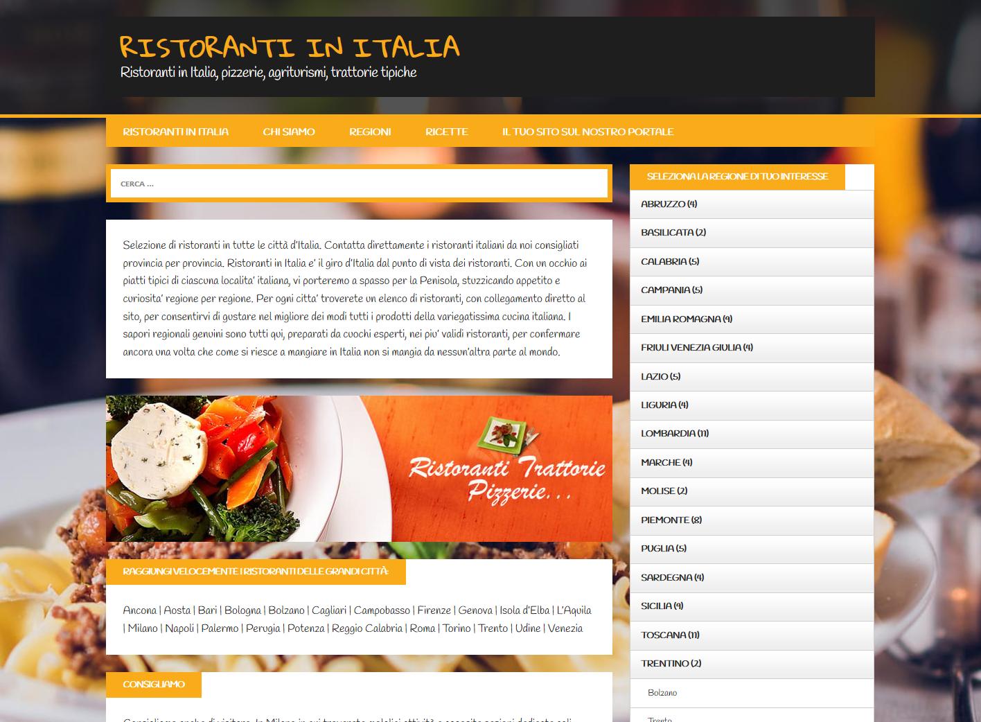 Creazione sito web e inserimento contenuti