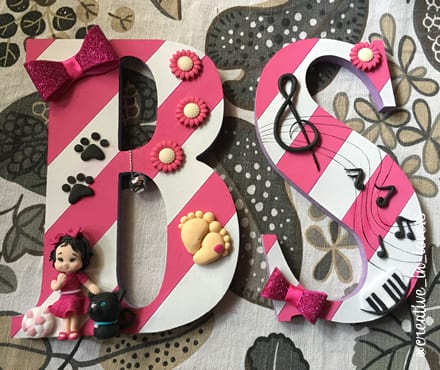Lettere legno decorate