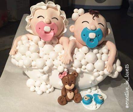 Cake topper gemelli