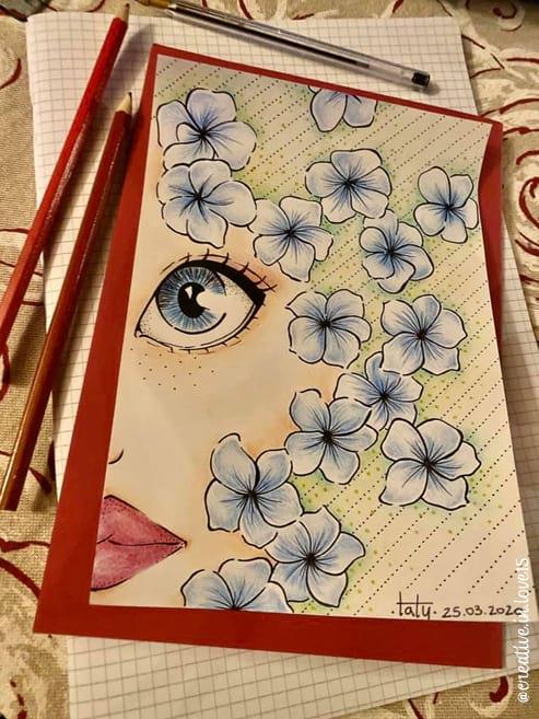 disegno a mano penna e colori