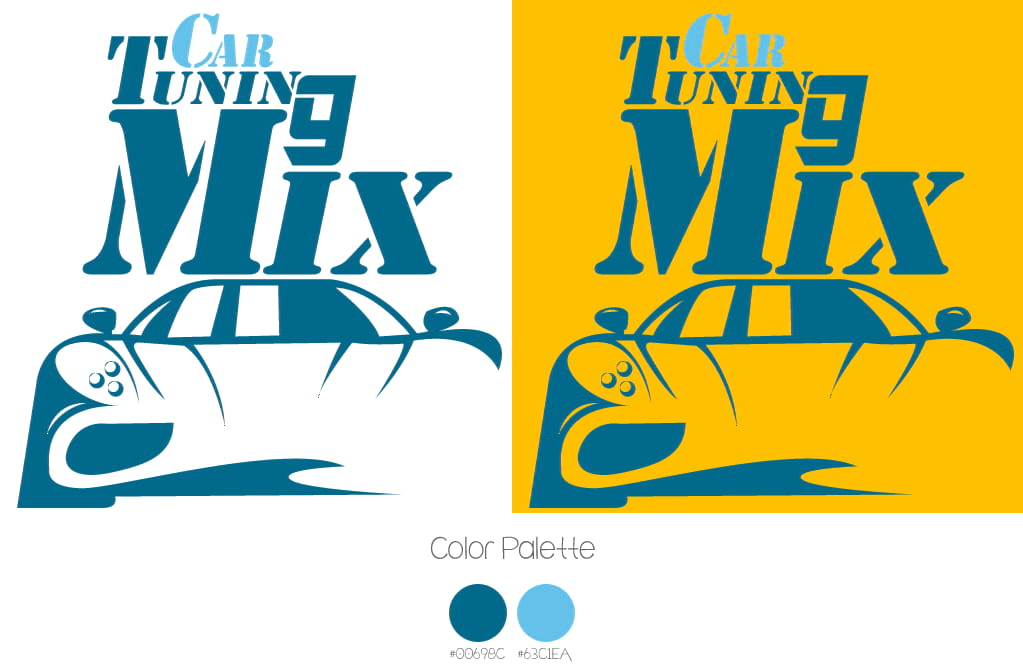 logo car tuning mix